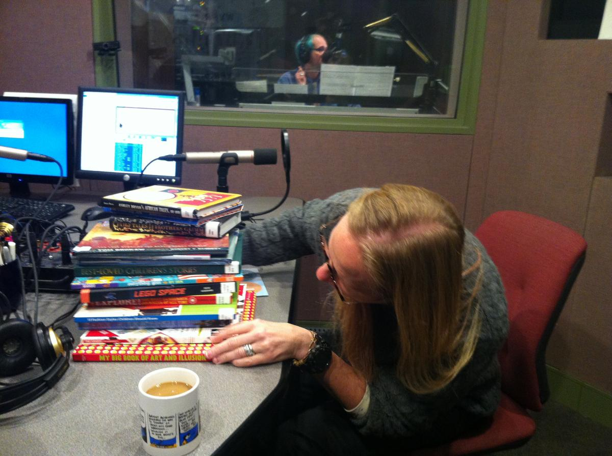 Book critic Paula Willey, in studio.